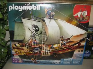 PLAYMOBIL PIRATE SHIP  #5135   NEW SEALED   IN BOX