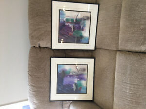 Two modern abstract pictures for Sale!