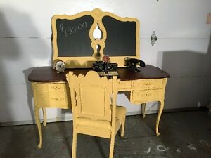 Chalk Painted Desk, Chair and Chalk Board