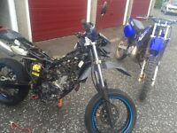 Yamaha dt dtr 125 enduro parts breaking
