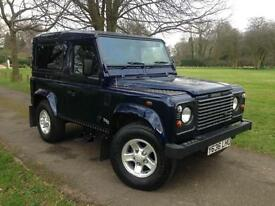 2001 Land Rover Defender 90 County Station Wagon Td5 6 Seater Oslo Blue