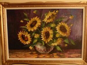 Magnifique peinture 24x36 avec cadre