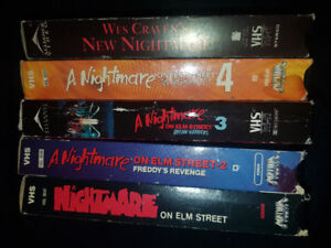 A Nightmare On Elm Street VHS tape collection - Horror