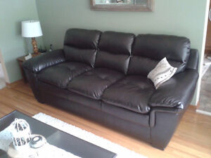 New Condition Bonded Leather Couches Stratford Kitchener Area image 2