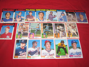 30 Topps Traded baseball cards (with minor stars) from 1980s*