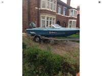 Fletcher Arrowstreak 16ft,Mariner 100hp outboard,Indespension roller trailer.