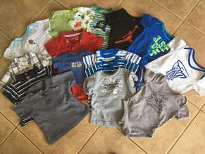 6-12 months boy short sleeve shirts and onesies