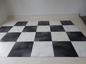 Total of 35 Large 24' floor square tiles for PhotographyProp