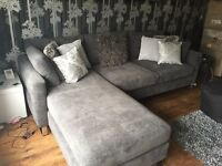 Brand New in Packaging Beautiful Grey Chaise/corner L shape sofa