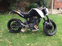 Ktm duke 125 low milage