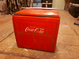 Galcière antique Coca Cola vintage cooler