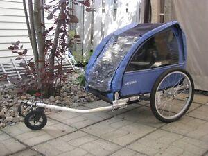 Remorque double ou simple pour vélo