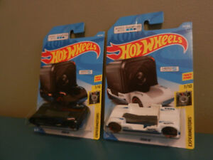 Hot Wheels Lot of 2 Zoom In Works With Go Pro Black and White