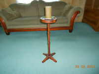 HAND MADE CANDLE STAND...THE CANDLE STAND IS A COPY OF THE ONE