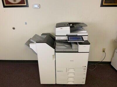 Ricoh Mp C3504 Color Copier Machine Network Print Scanner Finisher Copy Mfp