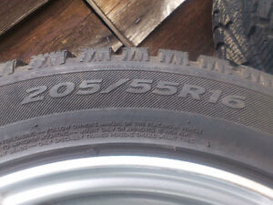 Set of 4 winter tires, mounted on rims North Shore Greater Vancouver Area image 5