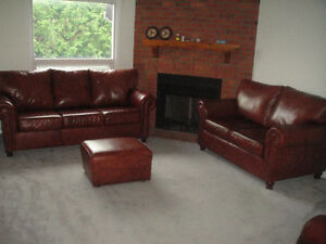 "Classic 100% ""Buffalo"" leather Sofa Set, Paid over $7000, Delive"