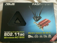 ASUS PCE-AC68 Wireless AC Adapter with warranty, box, etc.