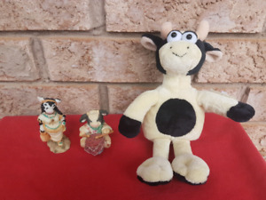 LOT of Cow Figurines & Plush Toys