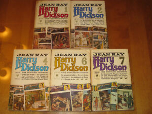 5 Livres de Harry Dickson - Tome #1, 2, 4, 6, 7 - Jean Ray