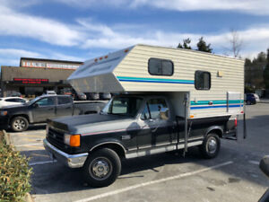Ford F250 and 8ft Okanagan Camper