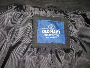 Men's Old Navy Black Double Breasted Wool Blend Peacoat
