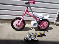 NEW Playskool Glide To Ride 2 In 1 Pink Girls Bike