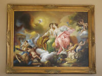 """Museum Quality """"Justice and Peace""""100% Hand-Painted Oil Painting"""