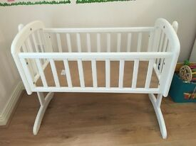 John Lewis Anna Swinging Crib, White
