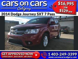 2014 Dodge Journey SXT 7 Pass w/Sunroof, DVD, BackUp Cam $129 B/