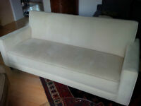 Cream micro-fibre sofa from Room & Board