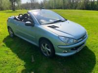 Peugeot 206 1.6 ( a/c ) 2003 Coupe Cabriolet Allure FULL LEATHER NEW MOT NO ADVI