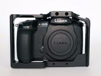 Panasonic Lumix DMC-GH5 body with Small Rig Cage and Spare Batteries