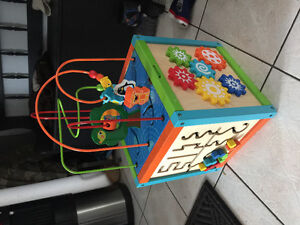 Wooden activity play toy