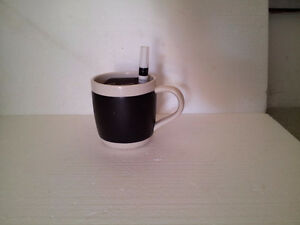 Starbucks large chalkboard  coffee mug with white marker pen NEW London Ontario image 1