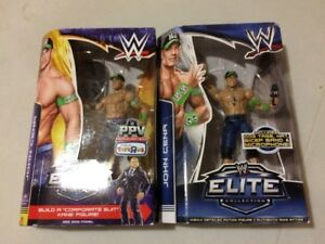 John Cena WWE Wrestling Elite Figure Lot of 2 Figures.