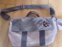 Baby changing bag, silvercross. Pink and grey sugared almond, pretty