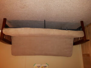 Futon and single bed $25 each