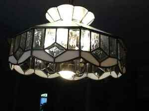 Authentic glass Tiffany ceiling fixtures London Ontario image 2
