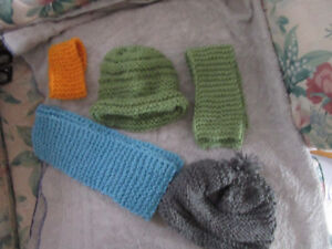 Knitted  children's hat/scarfs/headbands.
