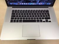 APPLE MACBOOK PRO RETINA 15 2014 INTEL CORE i7 2GHZ 8GB RAM 256GB SSD FLASH DRIVE WIFI WEBCAM