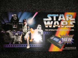 VINTAGE 1995 STAR WARS INTERACTIVE VIDEO BOARD GAME COMPLETE