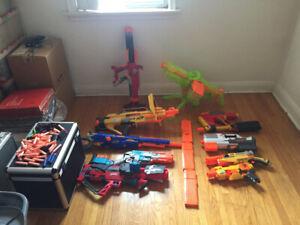 Assortment of Nerf toys