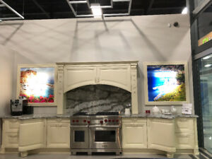 Showroom kitchen complete with Cambria Counters!!!