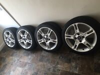 Genuine Ford Fiesta Zetec Alloy Wheels Set of 4 16 inch with 5 spokes