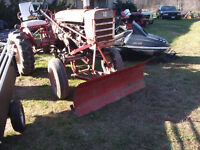 140 farmall tractor & front blade