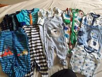 10 sleep suits 0-3 months