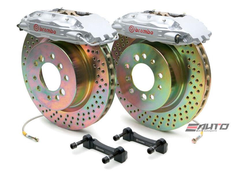 Brembo Front Gt Big Brake Kit Bbk 4piston Silver 323x28 Drill Disc Tt 8n 99-06