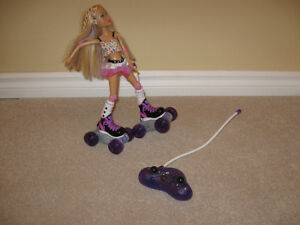 Roller skating Bratz doll