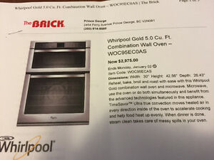 Whirlpool built in microwave oven combo still in box.